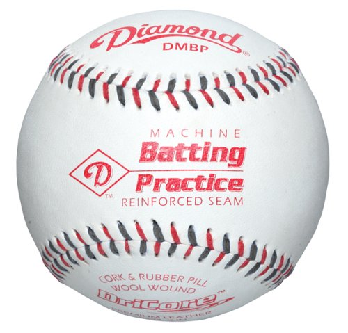 (Diamond Machine Batting Practice Baseball with Flat Seams, (Pack of 12) )