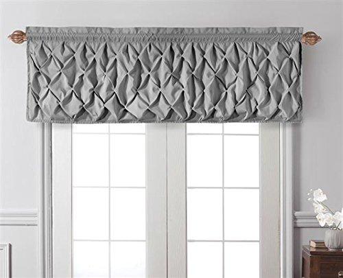 (VCNY Home Carmen Tailored Window Valance, Window Treatment, 60