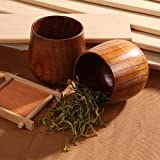 Natural Solid Wood Wooden Tea Cup Wine Mug