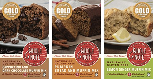 Whole Note 7-Whole-Grain, Muffin Mania Sampler, Naturally Gluten-Free -