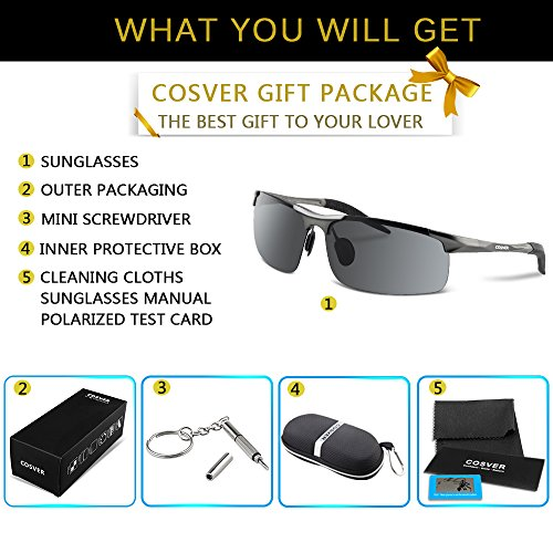 e31a6d4761 COSVER Men s Sports Style Polarized Sunglasses for Men Driving - Import It  All