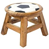 EXP Hand-Carved and Painted Soccer Ball Childrens Sitting Stool