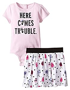 kate spade york Baby Girls' Here Comes Trouble 2 Piece Set