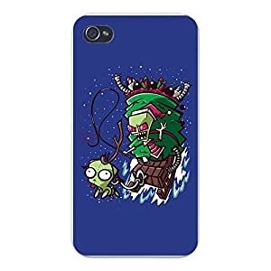"Apple iPhone Custom Case 5c White Plastic Snap On - ""Zim Stole Christmas"