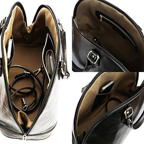 100 qualité Noir de VENISE Marron main femme cuir à Sac en Organiseur Sac haute OFFERT Cuir Cuir modèle Olivia OnqI1fAwx