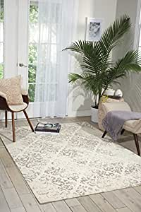 Amazon Com Nourison Damask Das03 Vintage Distressed