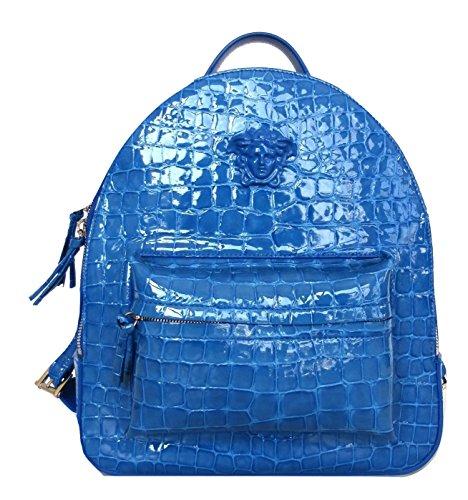 à TURCHESE Versace Sac main BLU pour MEDIO porté femme au Bleu dos p5q65wv