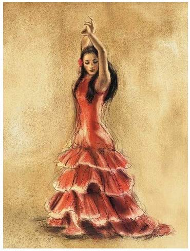 Amazon Com Flamenco Dancer I By Caroline Gold Fine Art Giclee Print On Gallery Wrap Canvas Ready To Hang Posters Prints