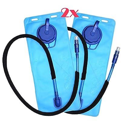 Ezyoutdoor 2 pcs 1.5L Hydration Bladder Resevoir Water Pack Bag Packs for Cycling Hiking Climbing Water Pack Bag Packs Cycling Hiking Climbing Running