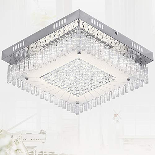 AUDIAN LED Flush Mount Ceiling Light Chandelier Lighting Fixture Ceiling Flushmount Ceiling Lamp Lighting Fixture Chandelier Lights Metal Canopy 14.2