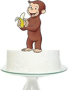 غطاء كعكة كبير بتصميم القرد كيريوس جورج لحفلات أعياد الميلاد للأطفال