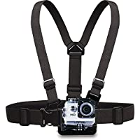 A Style Chest Body Strap for the GoPro Hero 4/3+/3/2/1 and Vertii HD Action Camera with 3-way Adjustment Mount