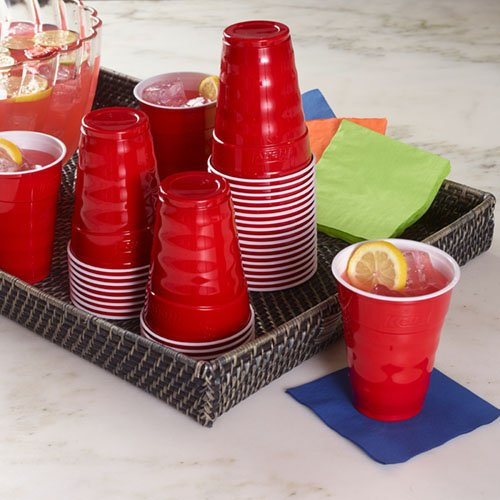 Hefty Plastic Party Cups (Red, 18-Ounce, 30-Count)