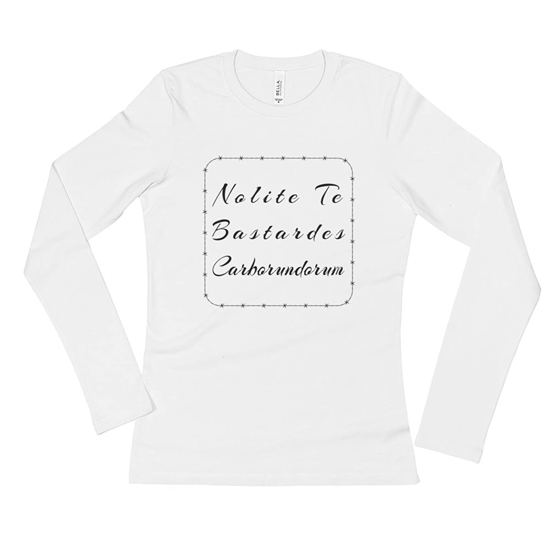 2498ebedae6 best Nolite Te Bastardes Carborundorum Barbed Wire Ladies  Long Sleeve T- Shirt
