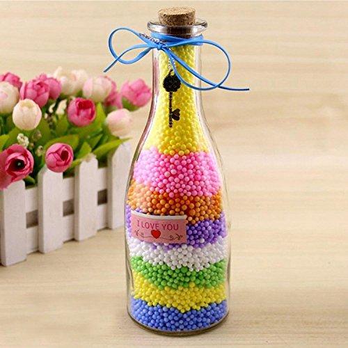 26pcs granos coloridos bolas de espuma confeti de oro rebanada de frutas herramientas de limo contenedores para hacer limo artesanía arte bricolaje caja de ...