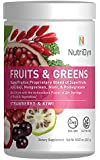 NutriDyn Fruit & Greens Super Food Antioxidant Supplement, Certified Organic, Gluten-Free and Non-GMO Super Fruit/Vegetable 2-Pack (Strawberry/Kiwi)