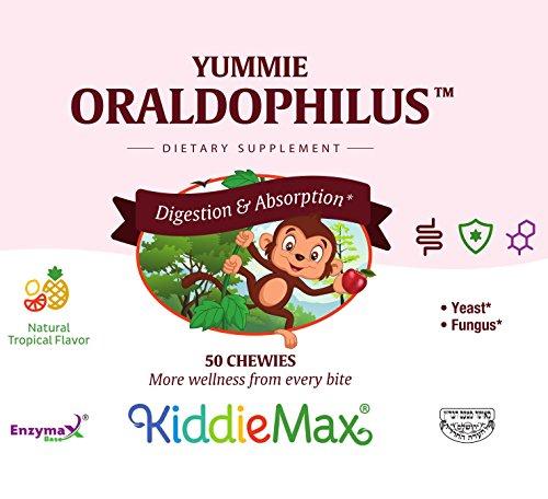 Maxi Health Yummie Oraldophilus - Acidophilus Probiotics - Tropical Flavor - 50 Chewies - Kosher by Maxi-Health (Image #3)