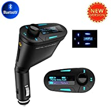 Bluetooth FM Transmitter Modulator USB Car MP3 Music Player High Quality 3.5mm Aux Cable LCD Display USB SD MMC Aux