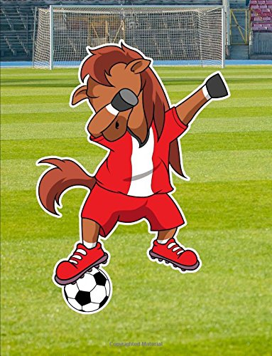 """Dabbing Horse Soccer Player Notebook: Graph Journal, 4x4 Quad Ruled Graph Paper, School Math Teachers, Students, 200 Pages (8.5"""" x 11"""") ebook"""