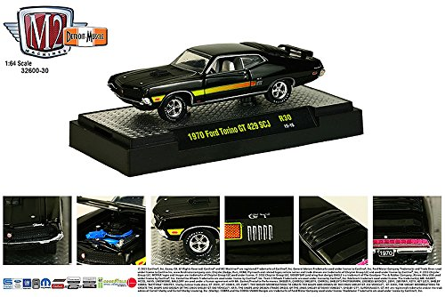 1970 FORD TORINO GT 429 * Detroit Muscle Release 30 * M2 Machines 2015 Castline Premium Edition 1:64 Scale Die-Cast Vehicle & Display Case Set ( R30 15-15 )
