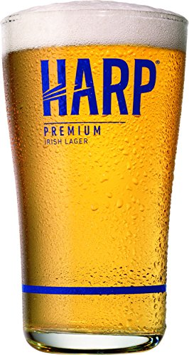 Harp Premium Irish Lager Midland Style Beer Glass ()
