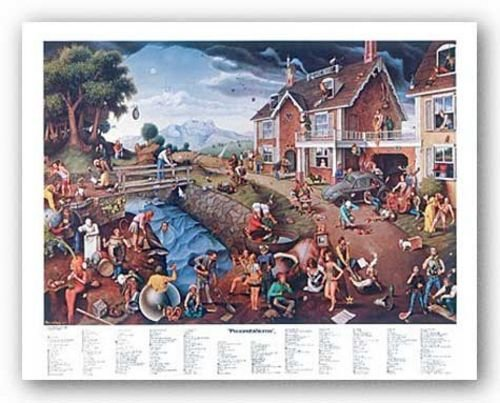 "Bruce Teleky Proverbidioms by Thomas E. Breitenbach 22""x28"" Art Print Poster from Bruce Teleky"