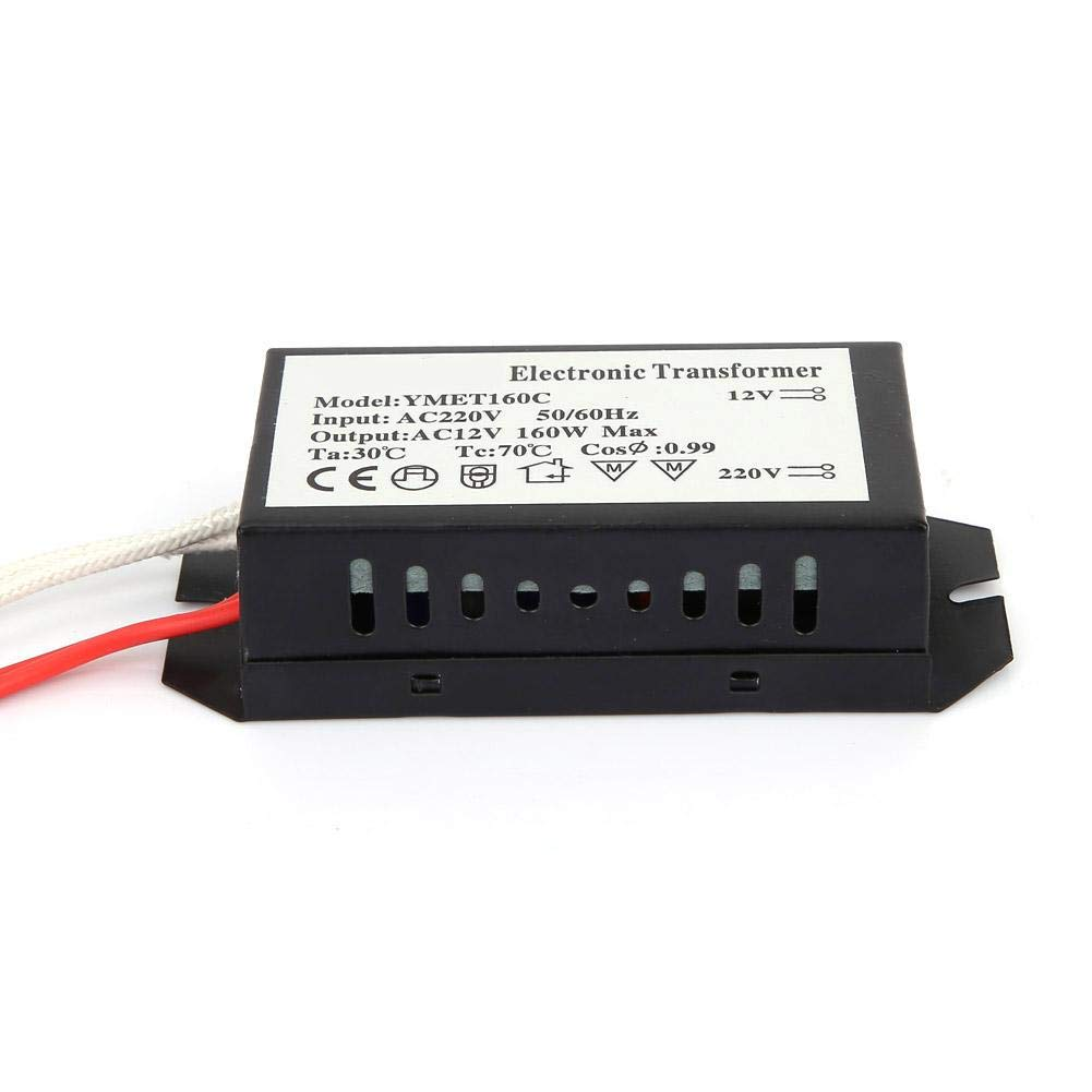 Entrada de 220 voltios//Salida de 12 voltios Transformador electr/ónico 160W Iluminaci/ón HC Controlador inteligente de fuente de alimentaci/ón