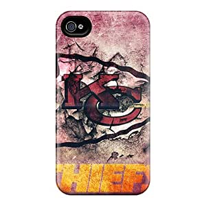 Best Cell-phone Hard Cover For Iphone 4/4s With Custom Fashion Kansas City Chiefs Image CristinaKlengenberg