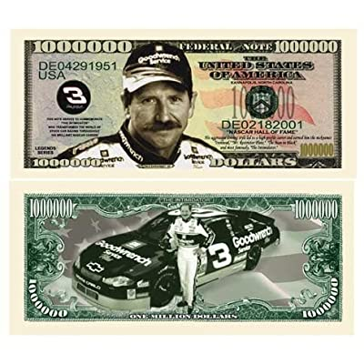 American Art Classics Pack of 5 - Dale Earnhardt Sr. Senior Million Dollar Bill: Toys & Games