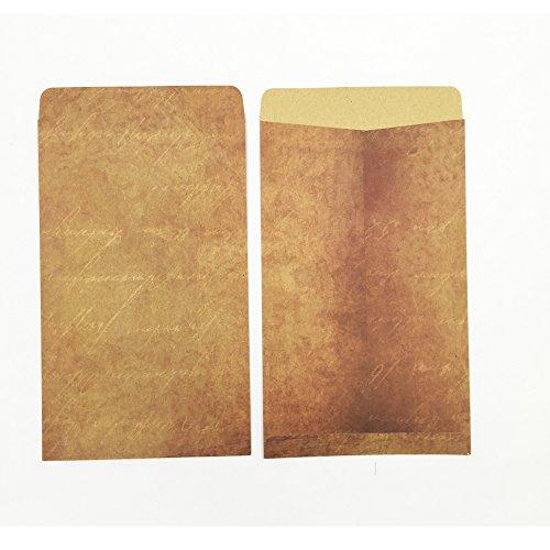 QingLanJian Vintage Kraft Paper Writing Paper with Envelopes Stationary Sets-32 Sheets and 16 Envelopes by QingLanJian (Image #1)