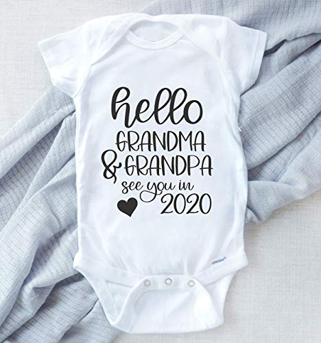 Baby Announcement Bodysuit, New Grandparent Surprise, Pregnancy Reveal Baby Tee, Gift for Grandparents