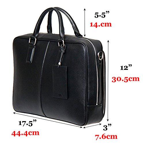 BFB Laptop Messenger Bag - Designer Business Computer Bag or Briefcase for Men - Ideal Commuter Bag for Work and Travel - Black by My Best Friend is a Bag (Image #9)