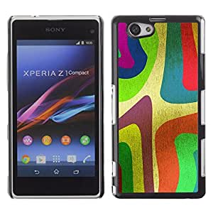 Graphic4You Curves On Canvas Digital Art Pattern Design Hard Case Cover for Sony Xperia Z1 Compact (Mini)