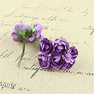 Big-Deal_12pcs Sugar Accessories Rhododendron Paper Flower Wedding Decoration Cute Rhododendron DIY Hand Material Garland for Wedding - (Color:6) 7