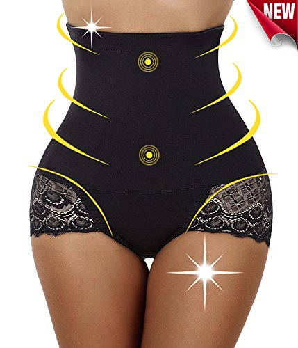 Invisable Strapless Body Shaper High Waist Tummy Control Panty Slim Butt lifter (M, Black) (Butt Lifter Waist Shaper compare prices)