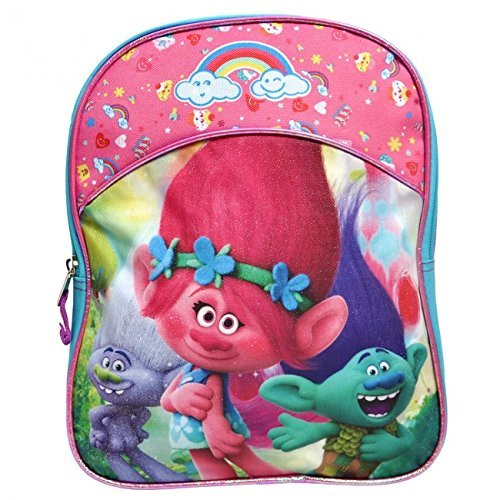 Dreamworks Officially Licensed Trolls 11 Inch Mini Backpack - Rainbows and Cupcakes