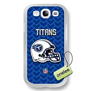 NFL Tennessee Titans Team Logo Samsung Galaxy S3(i9300) White Rubber(TPU) Soft Case Cover - White