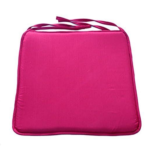 Cojín para silla suave y lavable, 40 cm x 40 cm, para comedor, cocina, jardín, etc. Tamaño libre rojo oscuro