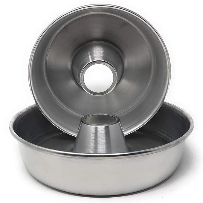 Mayuela - Bizcochera de Aluminio - Set de 2 - Ø 24 y 28 cm: Amazon.es: Hogar