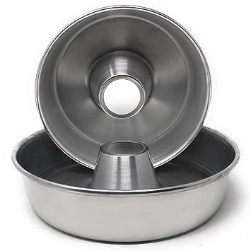 MGE /Ø 24 cm Schwarz Karbonstahl Runde Kuchenform Springform Backform mit Antihaftbeschichtung