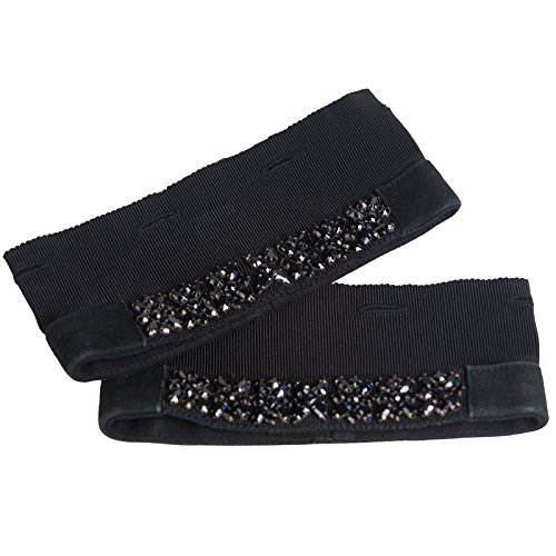 Viscose Collection Crystal ('S Max Mara Women's Jazz Crystal Cube Collection Cuffs One Size Black)