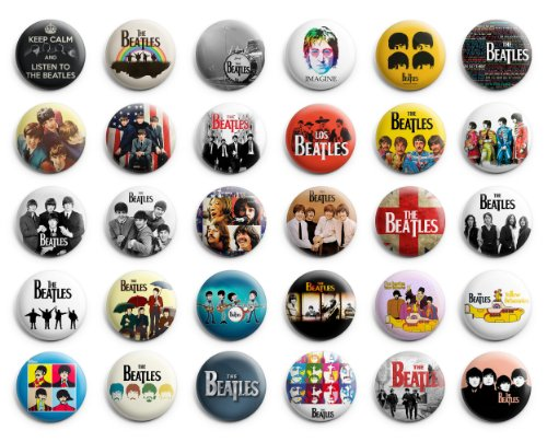 The Beatles Theme Party favor Pin Badges Button, 1.25 inches, 30pcs, New