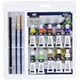 Royal Brush RART-2004 Clamshell Art Sets, Acrylic Painting 15 Piece