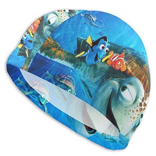 MaryTiTi Finding Ne-mo Swim Cap Long Hair Short Hair Swimming Bathing Cap Swim Caps Women Girls Men (Nemo Swim Cap)