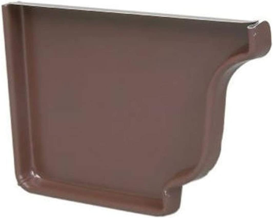 AMERIMAX HOME PRODUCTS 2520619 5 in. K-Style Brown Aluminum Right End Cap