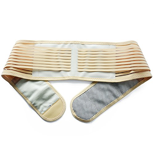 KONMED Adjustable Lumbar Lower Back Support Brace - Self-heating Magnetic Therapy Belt - Relieve Pain And Stress Of High Intensity Exercise(XL(37