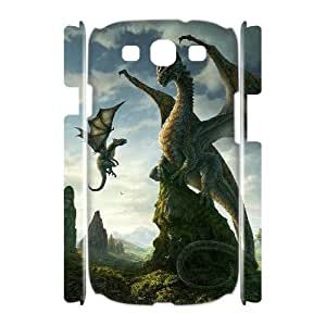 QSWHXN Dragon Customized Hard 3D Case For Samsung Galaxy S3 I9300