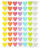 Pastel Soft Color Labels - Heart Self Adhesive Labels 7 Assorted Pastel ...