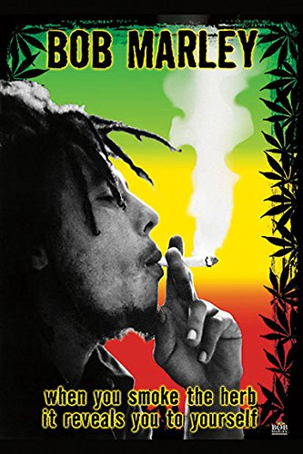 Bob Marley - Smoke Herb Unknown/Anon Novelty Music Print Poster 24x36 ()