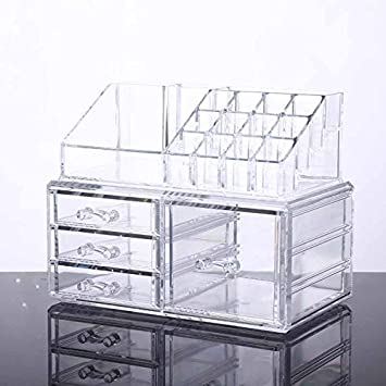 Amazoncom Unique Home Acrylic Jewelry and Cosmetic Storage Makeup